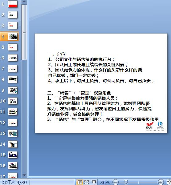 经理角色定位及岗位职责概述(PPT 30页)