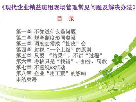 精益班组现场管理常见问题及解决办法(PDF 48页)